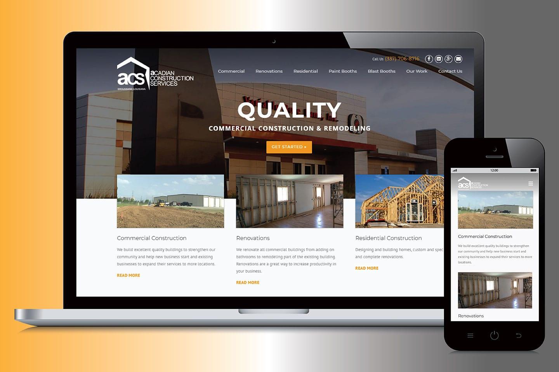 Acadian Construction Services website