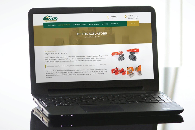 Gator Valve website development project