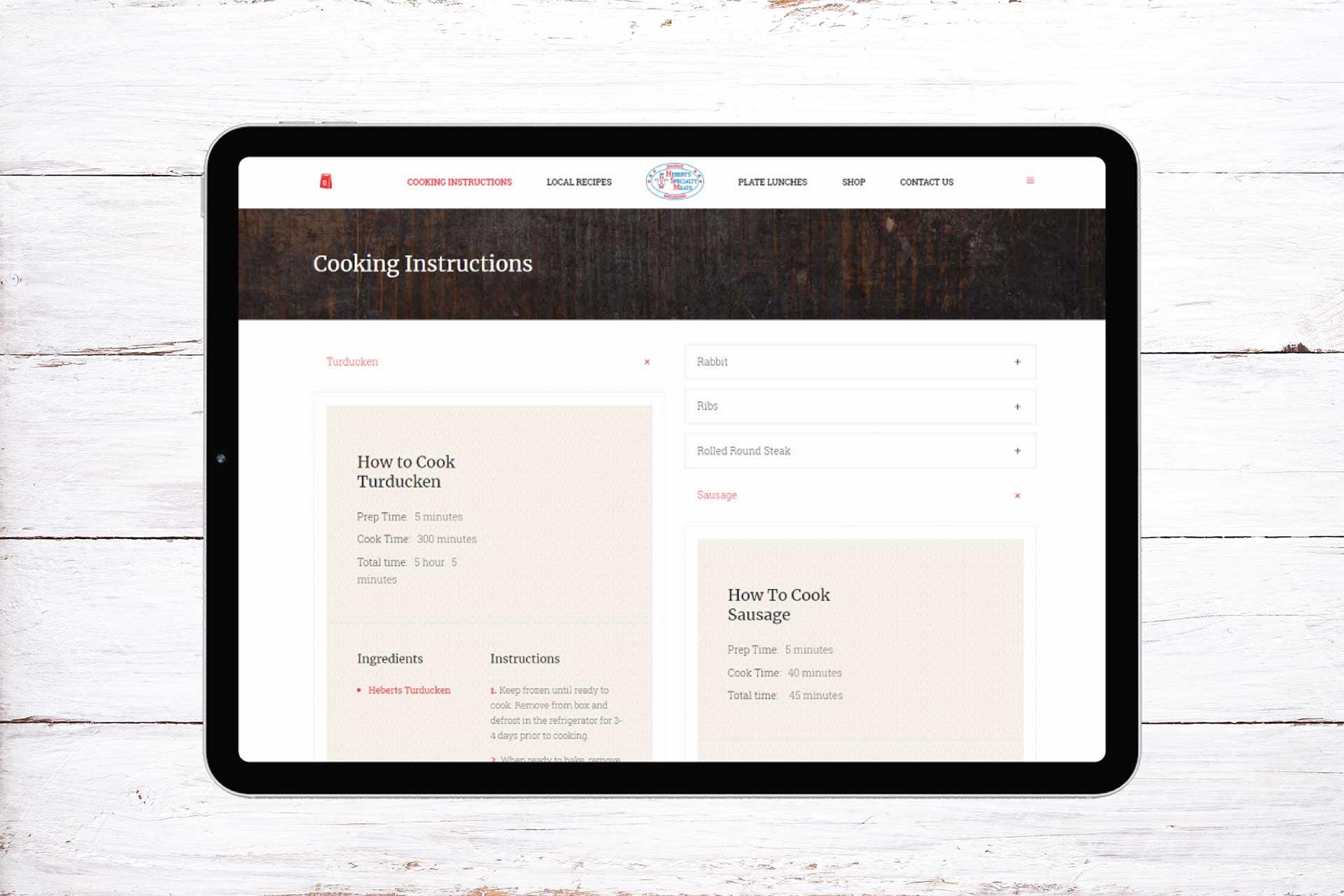Heberts Specialty Meats E Commerce Web Development