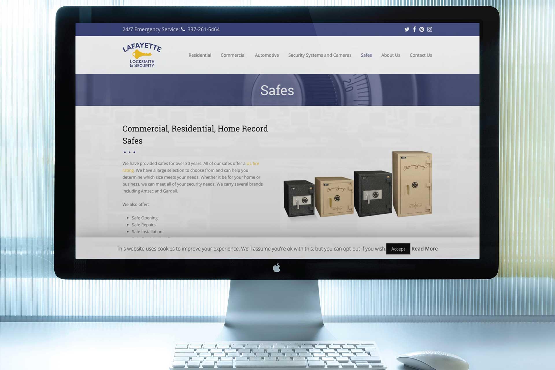 Lafayette Locksmith Website Design