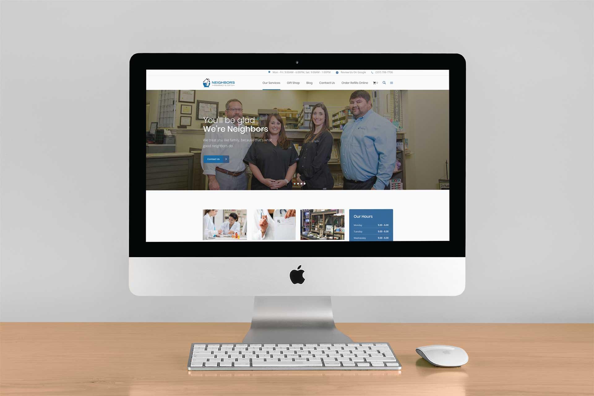 Neighbors Pharmacy E Commerce Website Design