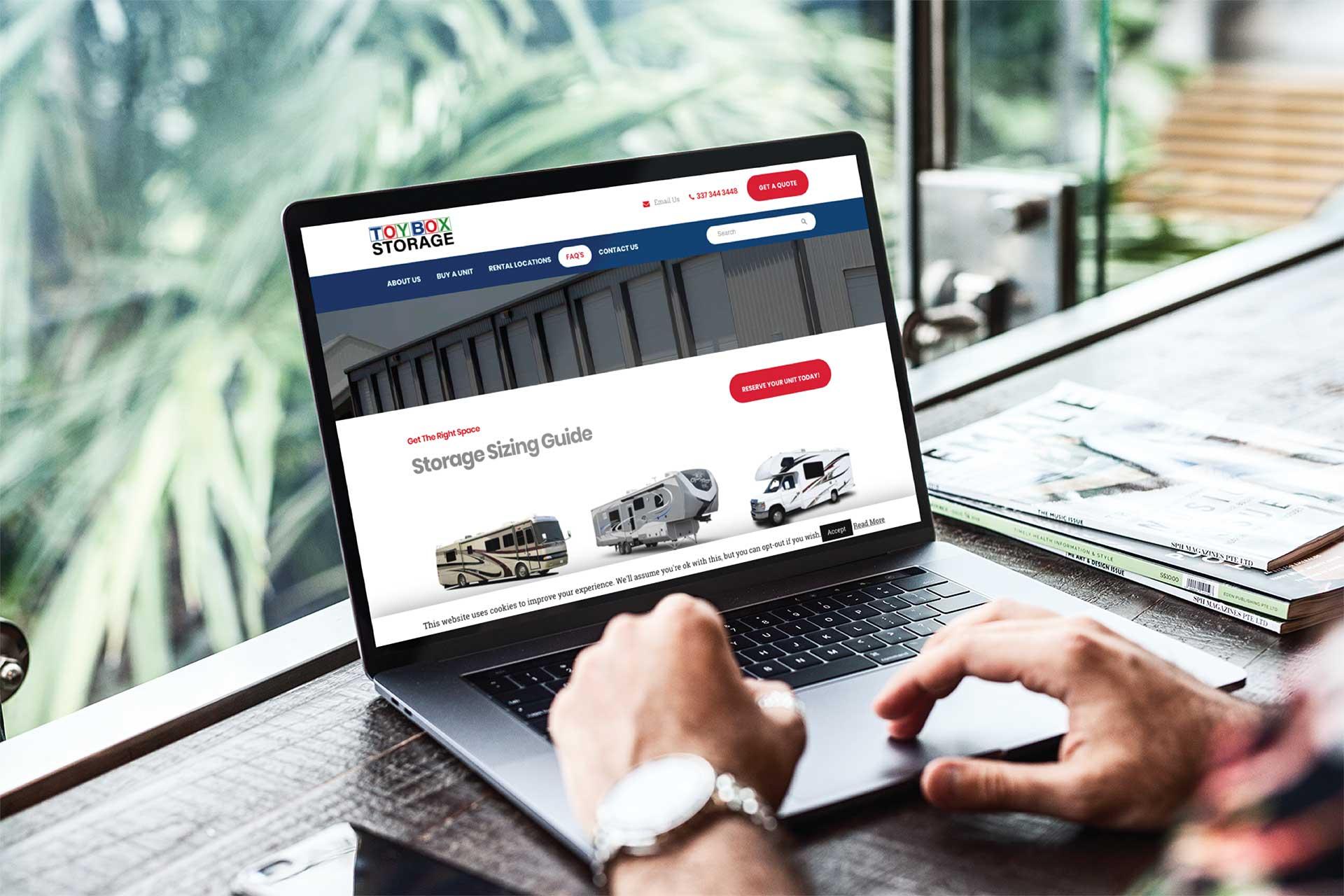 Toybox Storage website designer