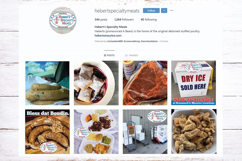 Heberts Specialty Meats Social Media