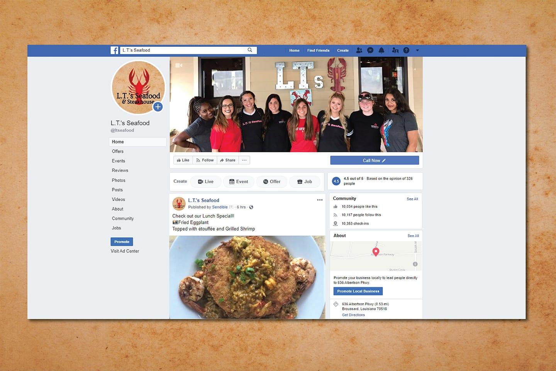 LTs Seafood Social Media