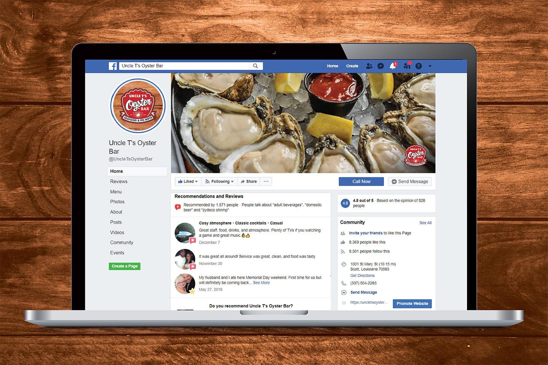 Uncle Ts Oyster Bar Social Media